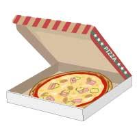 宅配ピザのチラシ